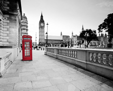 Wall art photo of the iconic red London telephone box