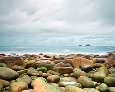 Wall art print of storm clouds gathering over Cape Cornwall