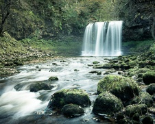 Wall art photo of the Sgwd yr Eira Waterfall in Brecon Beacon in Wales