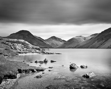 Wall art photo of three mountains at Wastwater in the Lake District