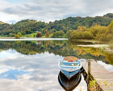 Wall art photo of a boat named Eve at Grasmere in the Lake District