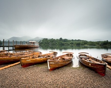 Wall art photo of the boats at Derwentwater in the Lake District