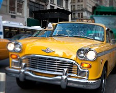 A home decor photo of the classic New York City Checker Cab