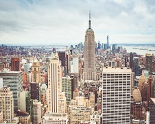 Art print of the Empire State Building from the Rockefeller Plaza