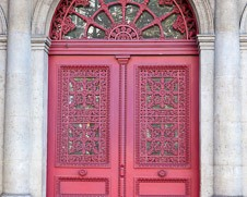 Wall  art photo of a red Paris door