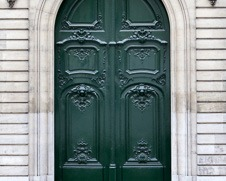 Wall  art photo of a green Paris door