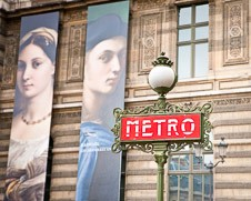 Home decor photo a Metro sign in Paris