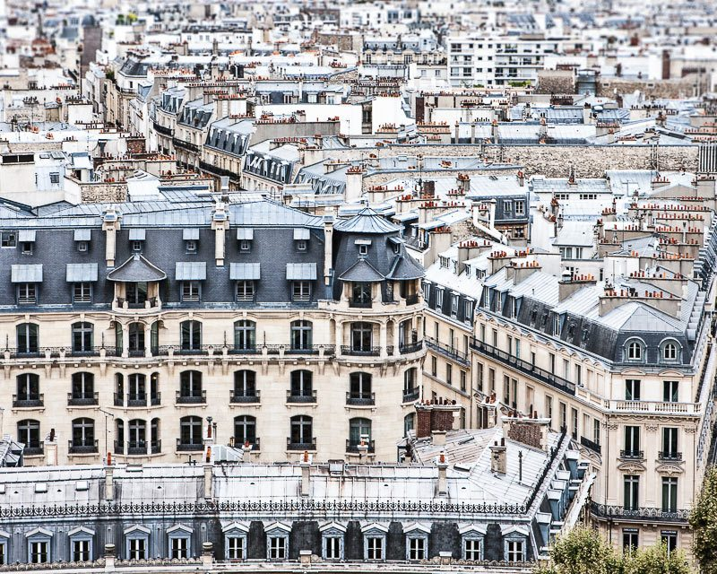 wall art photo of Paris rooftops