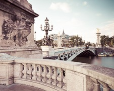 Wall art photo of the Pont Alexandre III in Paris