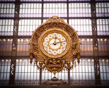 A wall art photo of the clock at Musee Orsay in Paris