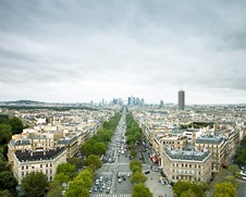 Wall art photo of the Champs Elysee from the Arc De Triomphe
