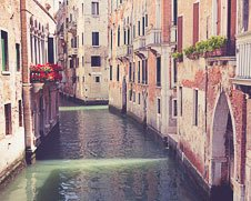 Wall  art of the waterways of Venice, Italy