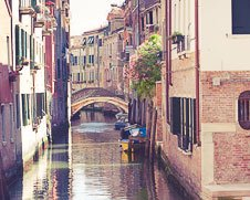 Wall art photo of the waterways of Venice, Italy
