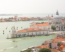 Wall art photo of the Venetian lagoon and Santa Maria della Salute