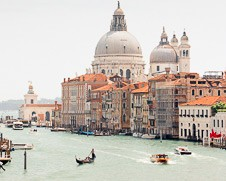 Wall art photo of Gondolas on the Grand Canal in Venice, Italy