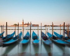 Wall art photo of Gondolas at Piazza San Marco in Venice, Italy